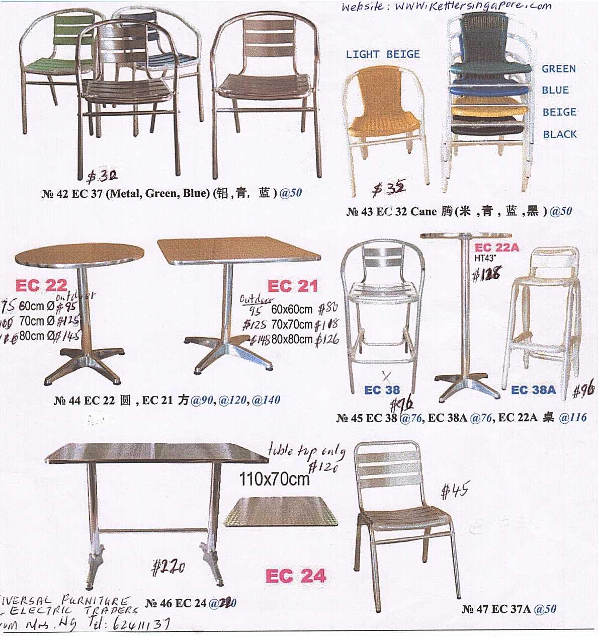 Polyethylene folding table gs table universal for Furniture singapore