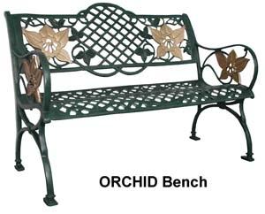 Cast Aluminium Orchid Bench Universal Furniture Singapore