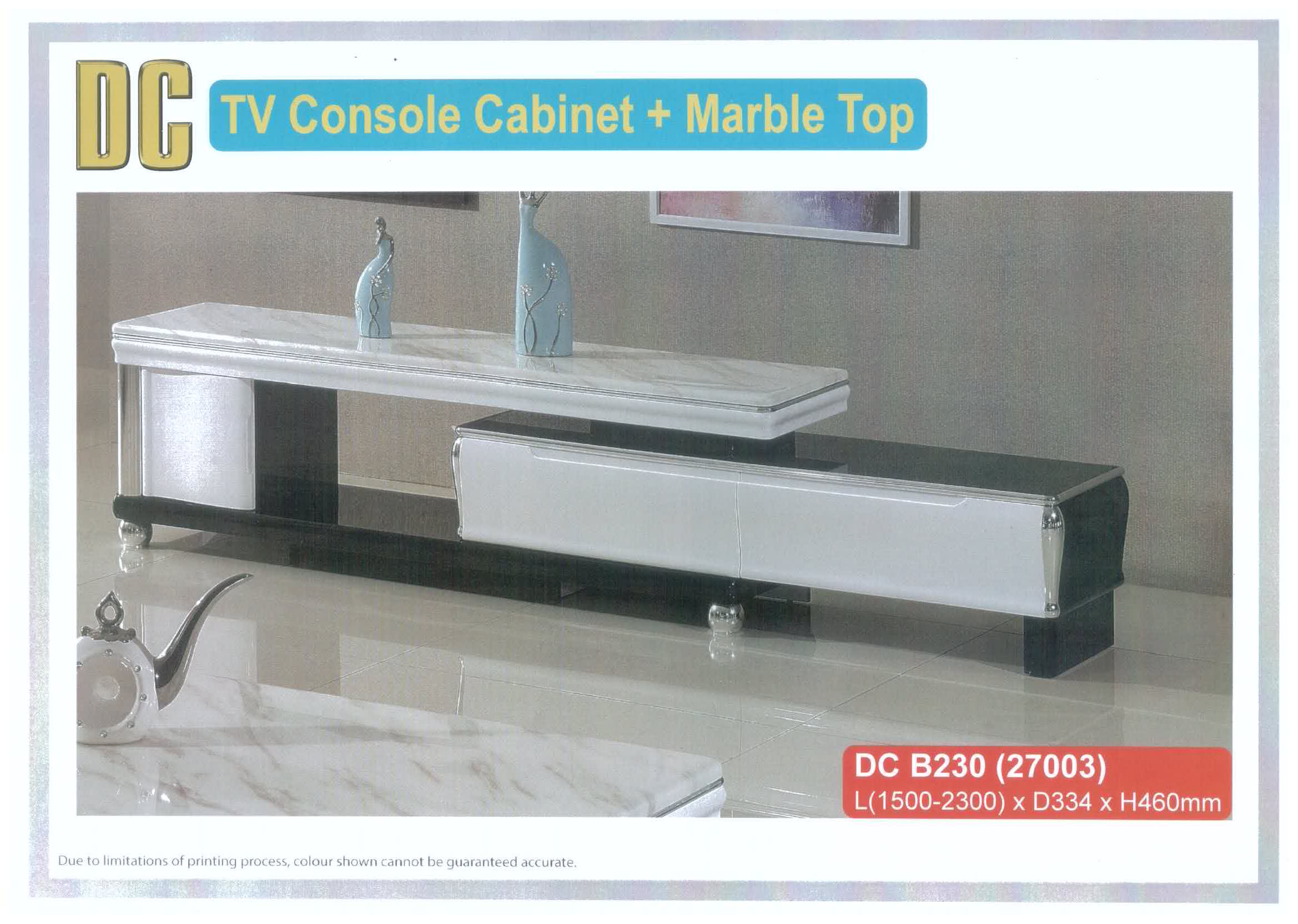 Tv Console Cabinet With Marble Top Dc B230 Universal